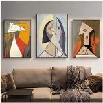 Quadri Moderni Astratto Picasso Donne Opere D'arte Poster e Stampe Arte della tela Pittura Immagine della parete per la decorazione del soggiorno Decorazioni per la casa 23.6x31.5in (60x80cm) x3pcs S