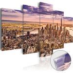 Adesivi murali moderni trasparenti a tema New York da cucina