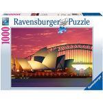 Ravensburger 1921, Sydney Opera House, Puzzle 1000 Pezzi, Australia, Foto & Paesaggi, Relax, Viaggi, Fotografia, Dimensione puzzle: 70x50 cm, Stampa di Qualità Elevata