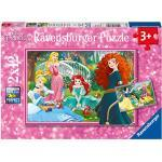 Ravensburger Italy- Disney Princess Puzzle da 2x12 Pezzi, 07620