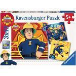 Ravensburger Italy Sam Il Pompiere Puzzle, 3 x 49 Pezzi, Multicolore, 09386