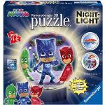 Ravensburger- Lampada Notturna, PJ Masks Puzzle 3D, 72 Pezzi, Multicolore, 11771