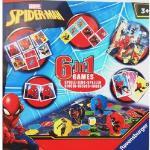 Ravensburger Marvel Spiderman 6 In 1 Game 6 Giochi Dal Film 1-4 Anni