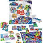 Ravensburger PJ Masks - Compendio 6 in 1 per bambini e famiglie dai 3 anni in su, Bingo, Domino, Serpenti e Scale, Dama e Carte da Gioco e Gioco di Memoria