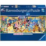 Ravensburger Puzzle 1000 pezzi, Personaggi Disney, Collezione Disney, Formato Panorama, Jigsaw Puzzle per Adulti, Puzzle Ravensburger - Stampa di Alta Qualità