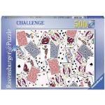 Ravensburger Puzzle 500 Pz Challenge Tavolo Carte Da Gioco Riesci A Metterlo Insieme? N. 148004