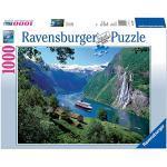Ravensburger Puzzle, Puzzle 1000 Pezzi, Fiordo Norvegese, Puzzle per Adulti, Puzzle Paesaggi, Puzzle Ravensburger - Stampa di Alta Qualità