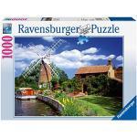 Ravensburger Puzzle Puzzle 1000 Pezzi, Mulino a vento, Puzzle per Adulti, Puzzle Paesaggi, Puzzle Ravensburger - Stampa di Alta Qualità
