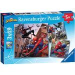 Ravensburger Spiderman Marvel Spider-Man, 3 puzzle da 49 pezzi, 8025