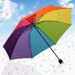 RCZSWGH Ombrello per Bambini Ombrello colorato Arcobaleno Pieghevole Ombrelli per Bambini Protezione per la Pioggia per Bambini Guarda Chuva Paraguas Parapluie