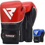 RDX Guantoni Boxe per Muay Thai e Allenamento | Vacchetta Pelle Gel Guanti da Sacco per Kickboxing, Sparring | Grande per Sacchi Pugilato, Boxing Gloves, Colpitori Punzonatura