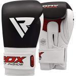 RDX Guantoni Boxe per Muay Thai e Allenamento | Vacchetta Pelle Guanti da Sacco per Kickboxing, Sparring | Grande per Sacchi Pugilato, Colpitori Punzonatura, Boxing Gloves