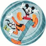 RugVista Ø 150 Tappeto Mickey & Goofy Fun Club Rotondo Beige/Azzurro