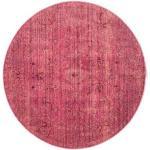 RugVista Ø 150 Tappeto Vintage Maharani Rotondo Rosa/Ruggine/Rosso/Rosso