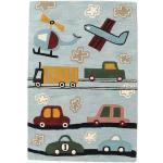 RugVista Tappeto Bambini Cars Handtufted 120X180 Lana Azzurro/Grigio Chiaro