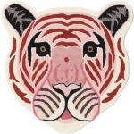 RugVista Tappeto Bambini Me Tiger - Rosa 100X100 Moderno Quadrato Lana Rosa Chiaro/Beige