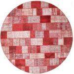 RugVista Tappeto Rotondo Ø 398 Fatto A Mano Moderno Lana Rosa Chiaro/Rosso Grandi