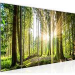 Runa Art Murali XXL Foresta paesaggio 200 x 80 cm Verde 5 Pezzi - Made in Germany - 503855b