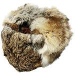 RUSSIAN STORE Colbacco di Coniglio Colore Grigio-Marrone Originale dalla Russia Taglie Varie. Unisex.Taglia M (EU)