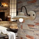 RUSTIKA Lampada da Parete Ceramica e Ferro Rustico Country