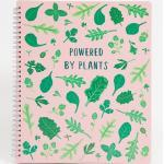 "Sass & Belle - Quaderno con scritta ""Powered By Plants""-Rosa"