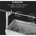 Sauenland Mini, Griglia con Girarrosto, 12kg max., Acciaio Inox, 4W