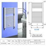 Scaldasalviette ad elementi cilindrici, Cordivari Claudia : Finitura - Cromo, Dimensione - 75x60, Disponibilità - A magazzino