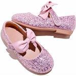 Ballerine larghezza E eleganti rosa con glitter per l'estate per bambina