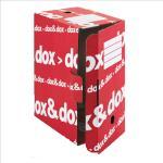 Scatola archivio Dox&Dox - 17x35x25 cm - bianco e rosso - Esselte Dox Quantita min. 12