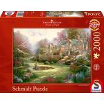 """Schmidt Spiele Thomas Kinkade: """"Gardens Beyond Spring Gate""""- Puzzle da 2000 pezzi"""