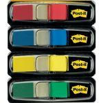 Segnapagina removibili Post-it Index Mini con dispenser blu, giallo, verde, rosso 4 confezioni da 35 - 683-4
