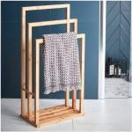 Sensea Piantana porta asciugamani Bamboo in bambù opaco marrone
