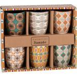 Set 6 tazze multicolore in maiolica BAMAKO