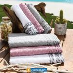 set asciugamani 1+1 confezionati in scatola biancaluna colore foto misura unica