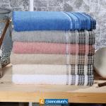 set asciugamani 1+1 jacquard prat biancaluna colore foto misura unica