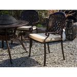 Set di 4 sedie da giardino alluminio marrone scuro MANFRIA