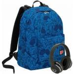 SEVEN Zaino Seven The Double Crowdy Blu Cuffie Wireless 2 Zaini In 1 Reversibile Zaino Scuola Seven Backpack 29 Lt