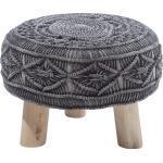 Sgabello in cotone grigio antracite MUNDRA