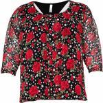 Magliette & T-shirt nere a girocollo con scollo rotondo per Donna Sheego