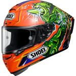 Shoei X-Spirit III Power Rush, casco integrale S male Arancione/Verde