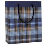 Shopper regalo Scozzese blu - 30 x 36 x 12cm - Kartos Quantita min. 6