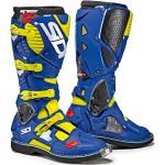 Stivali larghezza E blu di pelle