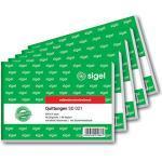 Sigel t1158blocco di ricevute come sd021: formato A6orizzontale, 2x 40fogli carta copiativa, 3Pack 5 pz, 40 fogli