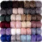 SIQUK 46 Pezzi Pom Poms Finte 23 Colori Pelliccia Pom Poms per Portachiavi Cappelli da Maglia (Colore tenero)