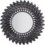 Specchio da parete tondo ø70 cm in argento LARRAU