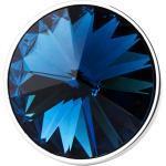 Spilla da giacca con cristallo blu