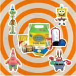 Spongebob Squarepants Reaction Action Figura 4-pack Krusty Krab Meal Nycc 10 Cm Super7