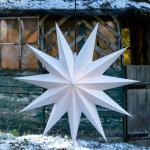 Stella LED Jumbo, esterni, 11 punte, Ø100cm bianco
