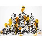 Sticker Adventures on doodle-safari 1 di Domestic - Giallo - Materiale plastico