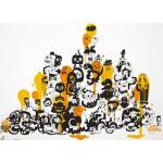 Sticker Adventures on doodle-safari 1 di Domestic - Giallo - Materiale plastico/Carta